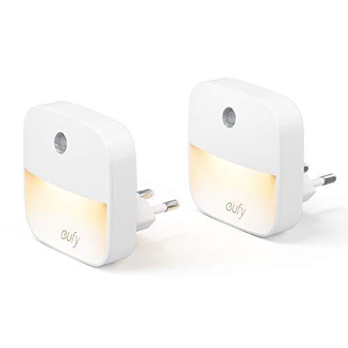 eufy Lumi 2 Pack LED Nachtlicht Plug-In, Warmes weißes LED Licht,...