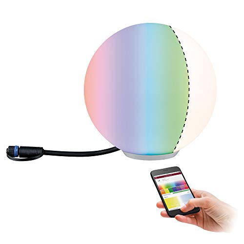 Paulmann 94269 Plug & Shine LED Außenleuchte ZigBee Globe RGBW...