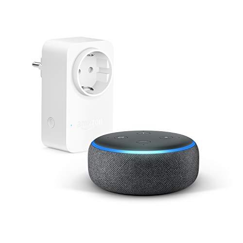 Echo Dot (3. Gen.), Anthrazit Stoff + Amazon Smart Plug...