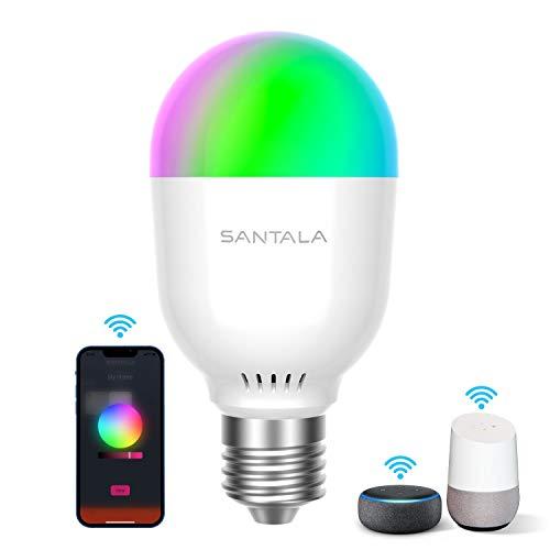 Smart LED Lampen Wi-Fi E27 7W Glühbirne 470 LM Äquivalent 40W...