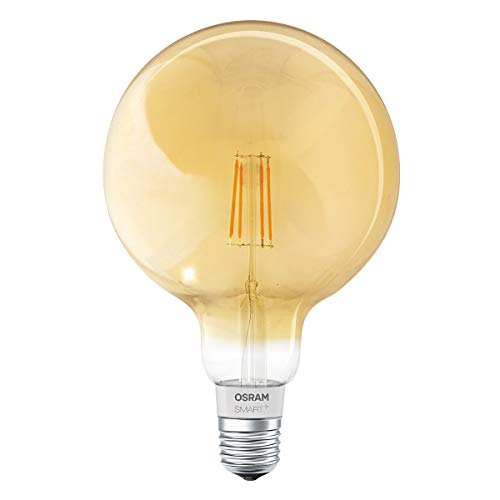 OSRAM SMART+ LED Filament Globe Gold, Bluetooth Lampe mit E27 Sockel,...