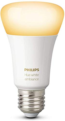 Philips Hue White Ambiance E27 LED Lampe Erweiterung, dimmbar, alle...
