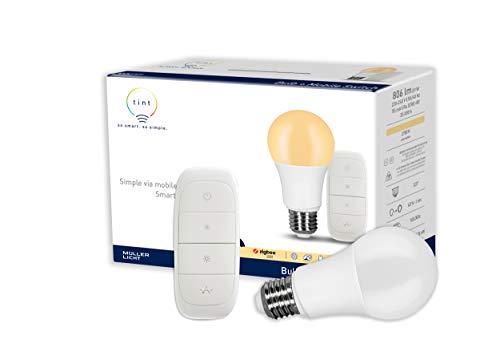 tint von Müller-Licht Smartes Starter Set warmwhite: LED Lampe E27,...