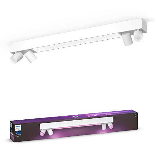 Philips Hue 915005928801 White & Col. Amb. LED 4-er Spotleuchte...