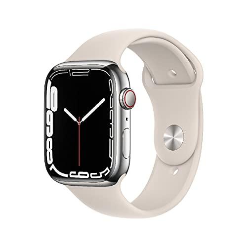 AppleWatch Series7 (GPS+ Cellular, 45mm) - Edelstahlgehäuse...