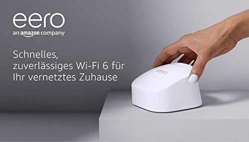 Das brandneue eero-6-Dualband-Mesh-Wi-Fi-6-System von Amazon mit...