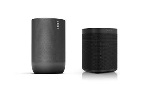 Sonos Move Smart Speaker - Indoor-Outdoor Set (1x Sonos Move schwarz +...