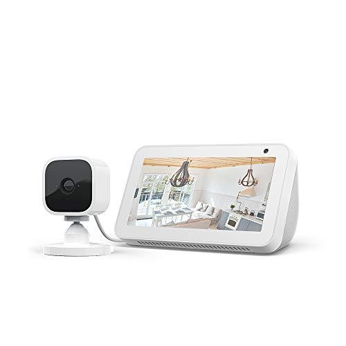 Echo Show 5, Weiß + Blink Mini Kamera, funktioniert mit Alexa