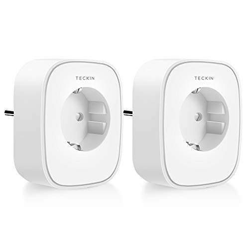 TECKIN WLAN Smart Steckdose, Alexa Steckdose 2er Pack, Smart Home...