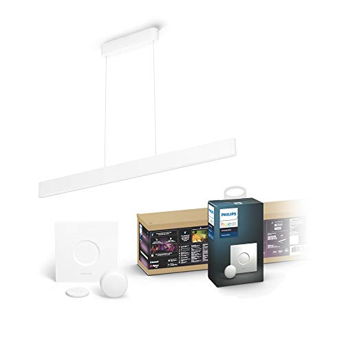 Philips Hue White & Col. Amb. LED Pendelleuchte Ensis, dimmbar, 16...