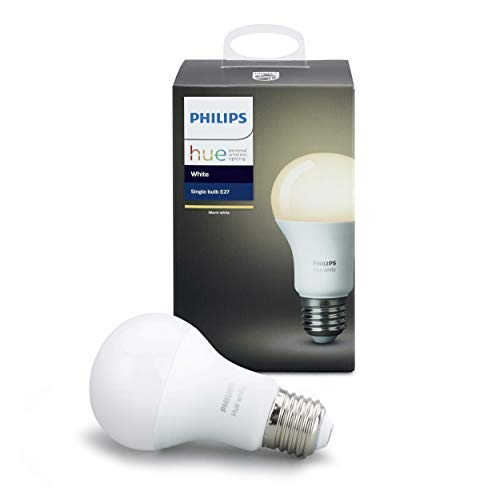 Philips Hue White Einzellampe 8.5 W A60 E27 dimmbar, Standard...