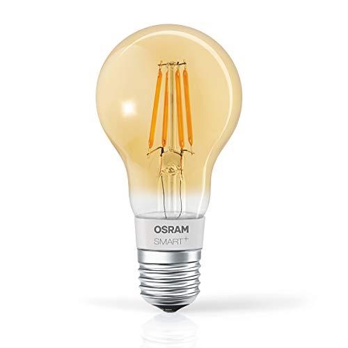 OSRAM SMART+ LED Filament Gold, Bluetooth Lampe mit E27 Sockel,...