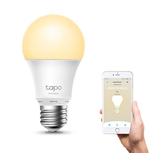 TP-Link Tapo L510E smarte WLAN Glühbirne E27, dimmbar 8.7 W, kein Hub...