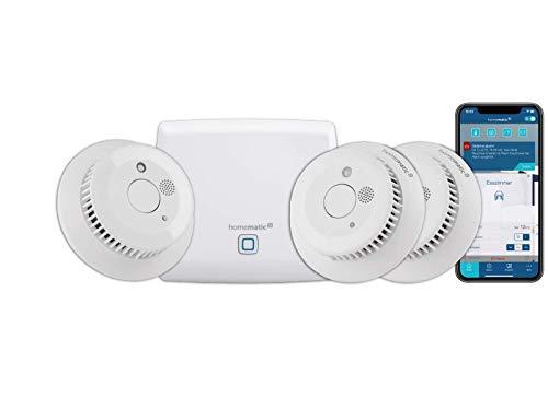 Homematic IP Smart Home Starter Set Rauchwarnmelder - Intelligenter...