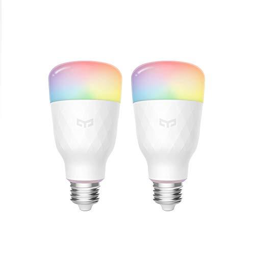 Yeelight Wifi Birne 16 Million Farben E27 8.5W RGB Dimmable 800lm...