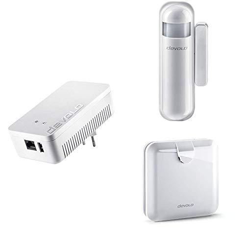 Devolo Home Control Zentrale + Alarmsirene + Tür/Fensterkontakt