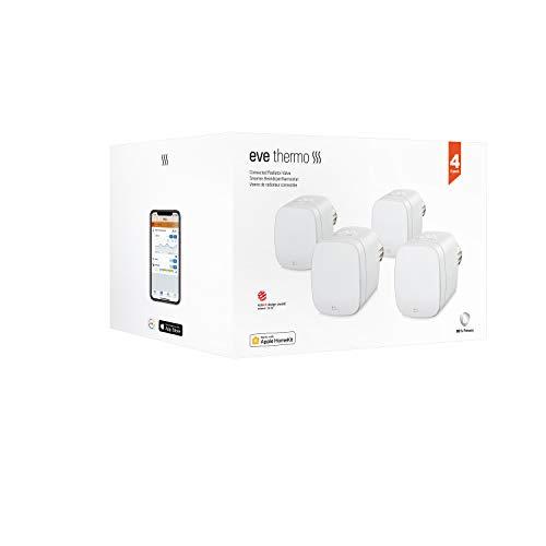 Eve Thermo, 4er Set - Smartes Heizkörperthermostat mit LED-Display,...