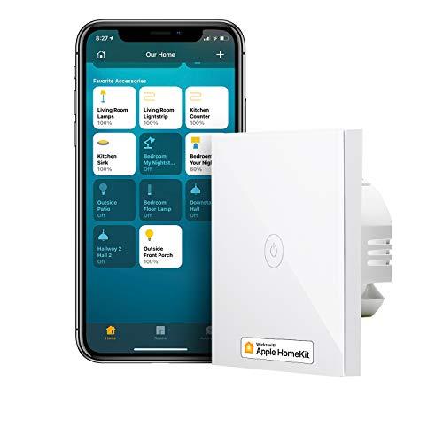 Smart Lichtschalter kompatibel mit HomeKit, meross WLAN Wandschalter,...