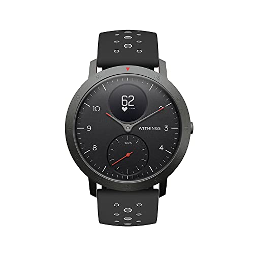 Withings Steel HR Sport - Multisport Hybrid Smartwatch, Connected GPS,...