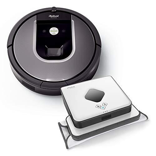 iRobot Roomba 960 plus Braava 390t Wischroboter im Set: Roomba saugt...
