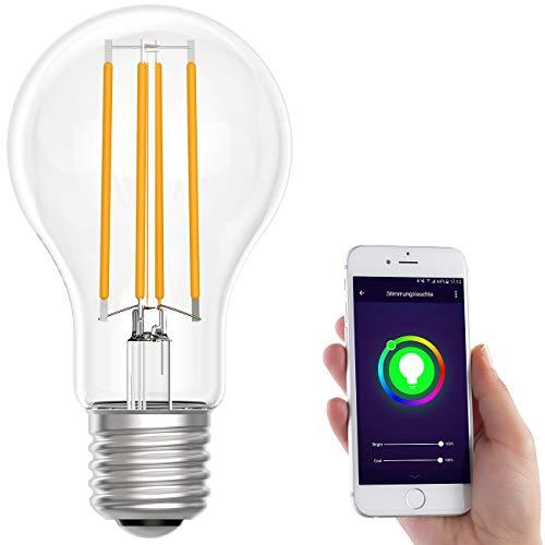 Luminea Home Control LED WLAN: LED-Filament-Lampe, komp. zu Amazon...