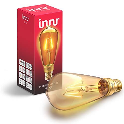 Innr E27 Smart Filament LED Edison Lampe, kompatibel mit Philips Hue*...
