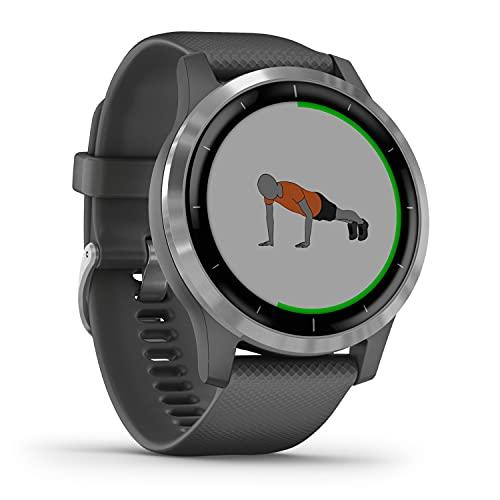 Garmin vívoactive 4 – wasserdichte GPS-Fitness-Smartwatch mit...