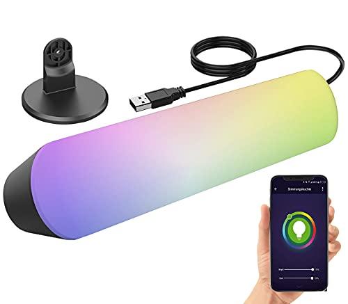 Luminea Home Control Farbwechsel Tischlampe: WLAN-USB-Stimmungsleuchte...
