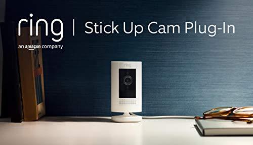 Ring Stick Up Cam Plug-In von Amazon, HD-Sicherheitskamera mit...