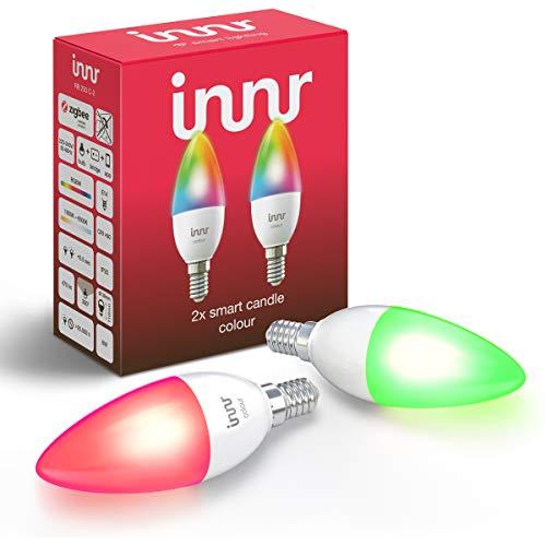 Innr E14 Smart LED Kerze, Color, kompatibel mit Philips Hue*, Google &...