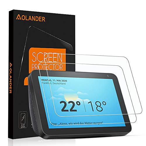 AOLANDER Compatible with Amazon Echo Show 8 Panzerglas Schutzfolie, 9H...