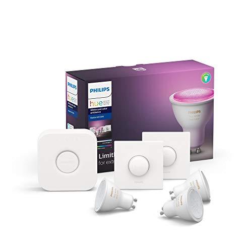 Hue White & Col. Amb. GU10 3er Starter Set 3x350lm Bluetooth, 2x...