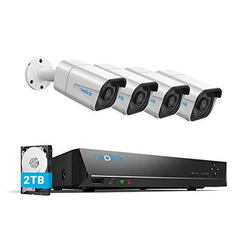 Reolink 4K Überwachungskamera Aussen Set, 8CH Videoüberwachung mit...