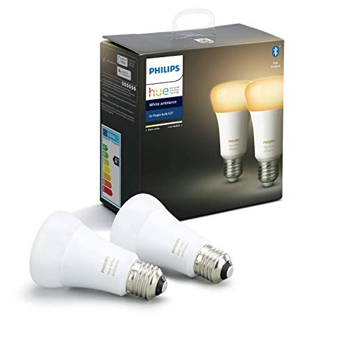 Philips Hue White Ambiance E27 LED Lampe 2-er Pack, dimmbar, alle...
