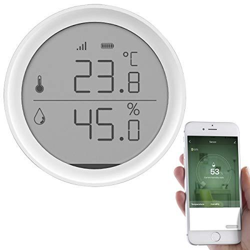 Luminea Home Control WLAN Thermometer: WLAN-Temperatur- &...