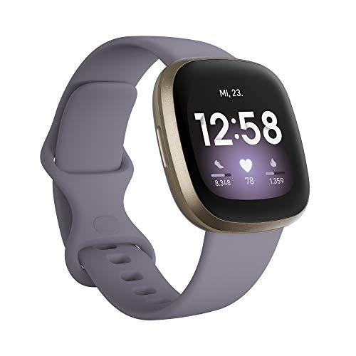 Fitbit Versa 3 Amazon Exclusive - Gesundheits- & Fitness-Smartwatch...
