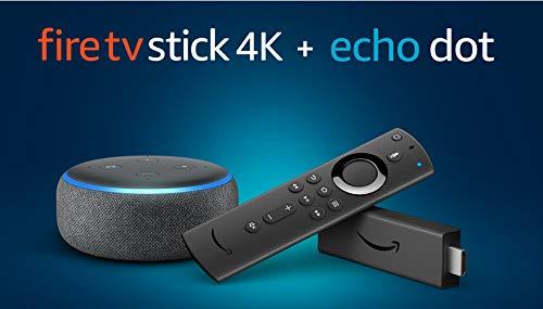 Fire TV Stick 4K mit der neuen Alexa-Sprachfernbedienung + Echo Dot...