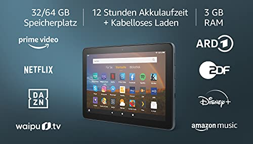 Fire HD 8 Plus-Tablet, 8-Zoll-HD-Display, 32 GB, Schiefergrau, Mit...