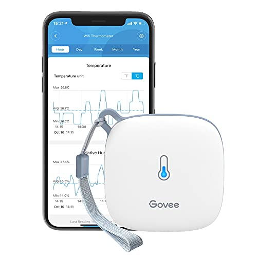 Govee WLAN Thermometer Hygrometer Innen, WiFi Thermo Hygrometer mit...
