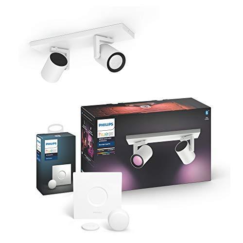 Philips Hue White & Col. Amb. LED 2-er Spot Argenta inkl. Hue Smart...