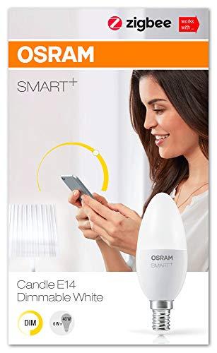 OSRAM Smart+ LED, ZigBee Lampe mit E14 Sockel, warmweiß, dimmbar,...