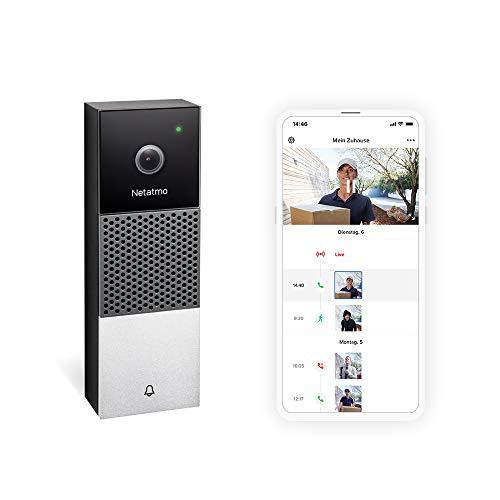 Netatmo Smarte Video Türklingel mit Kamera, WLAN, 2-Wege-Audio,...