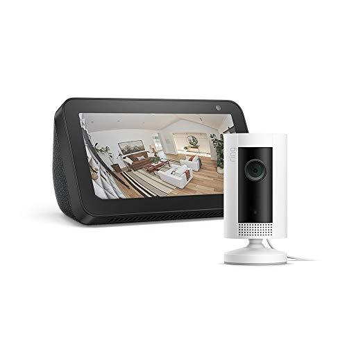 Echo Show 5, Schwarz, Ring Indoor Cam, funktioniert mit Alexa