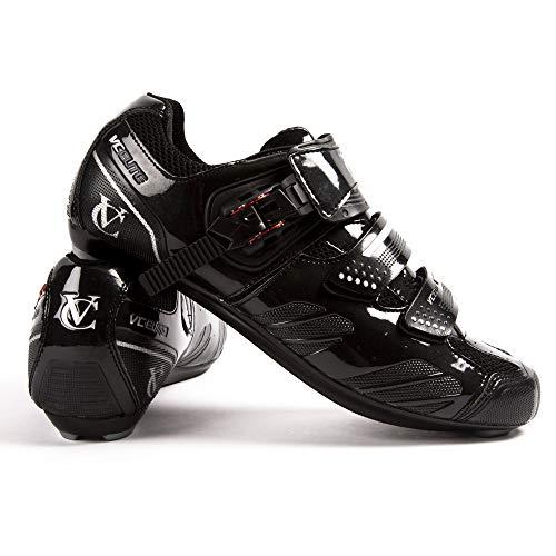 VeloChampion Elite Rennradschuh (Paar) Road Cycling Shoes (Schwarz...