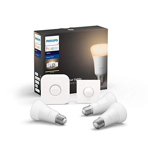 Hue White E27 3er Starter Set 3x806lm Bluetooth, 1x SmartButton