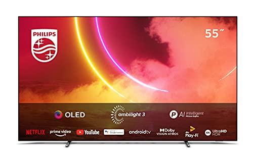 Philips Ambilight TV 55OLED805/12 55-Zoll OLED TV (4K UHD, P5 AI...