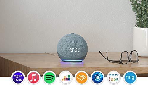 Der neue Echo Dot (4. Generation) | Smarter Lautsprecher mit Uhr und...