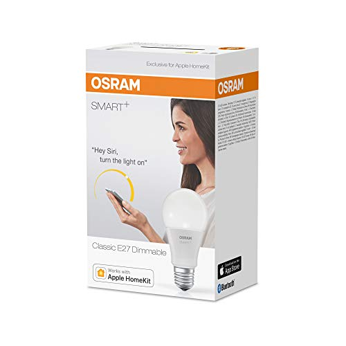 OSRAM SMART+ LED, Bluetooth Lampe mit E27 Sockel, dimmbar, ersetzt 60W...
