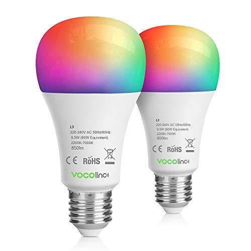 VOCOlinc HomeKit Wifi Lampe LED Smart Glühbirne E27 60W RGB...