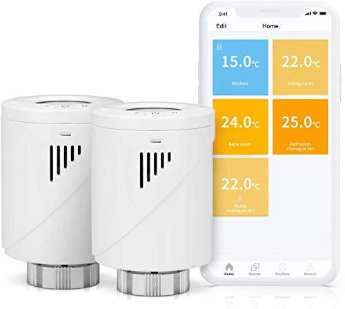 Meross Smart WLAN Heizkörperthermostat, benötigt Hub,mit LCD-Anzeige...